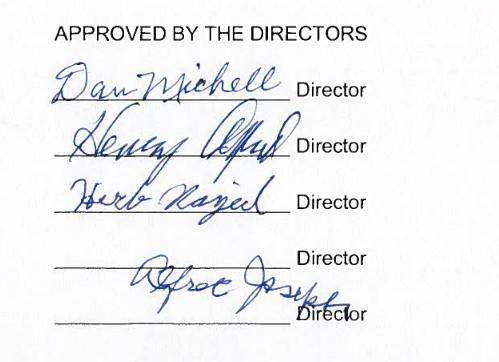 Directors of the office of wetsuweten