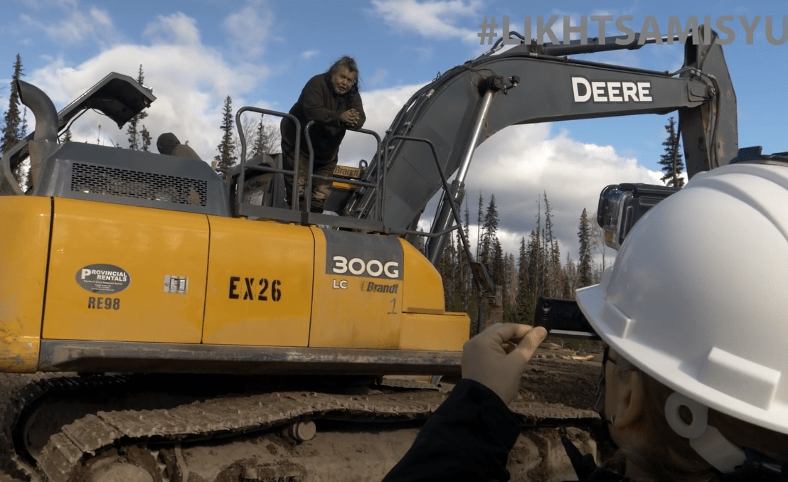 Adam Gagnon seizing Coastal Gaslink Excavators